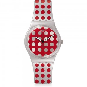 Zegarek damski Swatch GE240 Red Flush Swiss Made